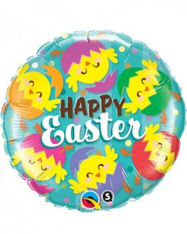 "18"" Happy Easter Hatched Chicks Foil Balloons"
