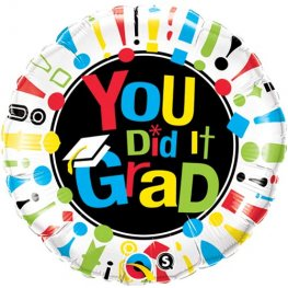 "18"" You Did It Grad Foil Balloons"