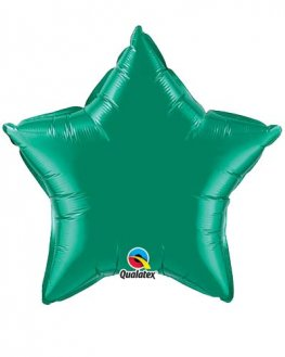 "9"" Emerald Green Star Foil Balloon"