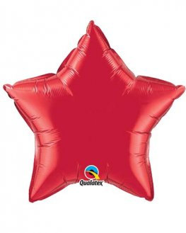 "9"" Ruby Red Star Foil Balloon"