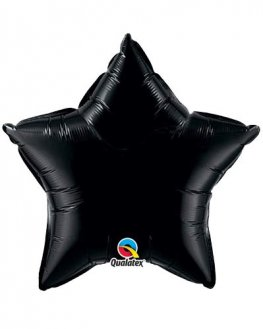 "9"" Onyx Black Star Foil Balloon"