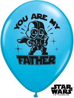"11"" Star Wars You Are My Father Balloons 25pk"