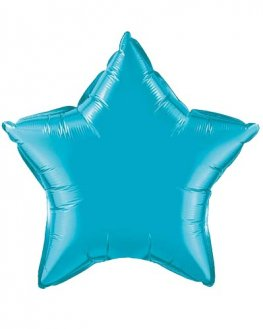 "4"" Turquoise Star Foil Balloon"