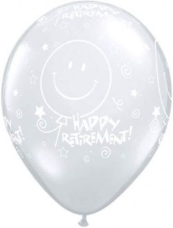 "11"" Retirement Smile Face Latex Balloons 25pk"