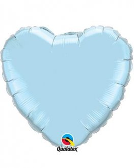 "4"" Pearl Light Blue Heart Foil Balloon"