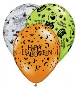 "11"" Halloween Assortment Latex Balloons 25pk"