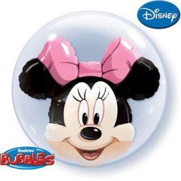 "24"" Minnie Mouse Double Bubble Balloons"