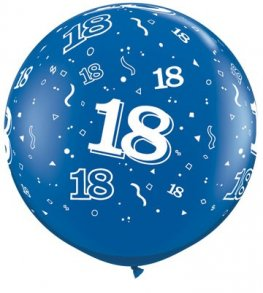 3ft Sapphire Blue 18 Around Giant Latex Balloons 2pk
