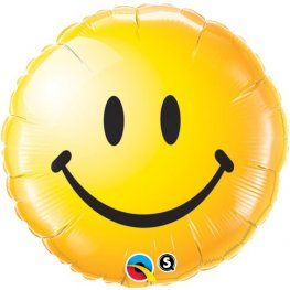 "18"" Smiley Face Yellow Foil Balloons"