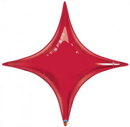 "20"" Ruby Red Starpoint Air Fill Foil Balloon"