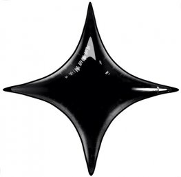 "20"" Onyx Black Starpoint Air Fill Foil Balloon"