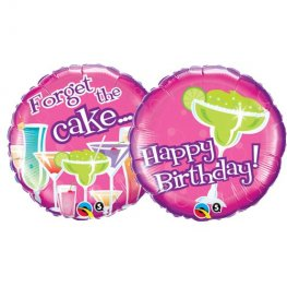 "18"" Birthday Forget The Cake Foil Balloons"