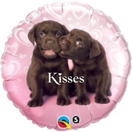 "18"" Puppy Kisses Foil Balloons"