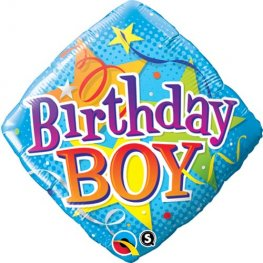 "18"" Birthday Boy Stars Foil Balloons"