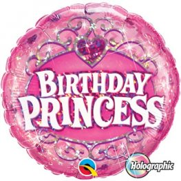 "18"" Birthday Princess Foil Balloons"