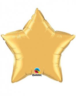 "4"" Gold Star Foil Balloon"