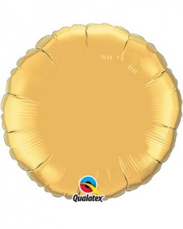 "4"" Gold Round Foil Balloon"