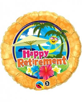"18"" Retirement Sunshine Foil Balloons"
