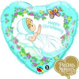 "18"" Precious Moments Christening Boy Foil Balloons"