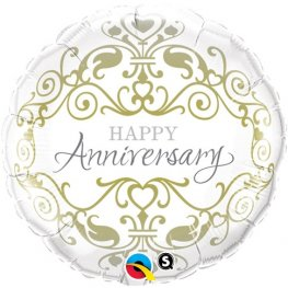 "18"" Anniversary Classic Foil Balloons"