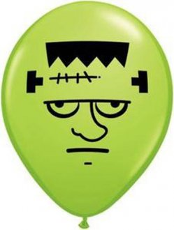 "5"" Frankenstein Face Latex Balloons 100pk"