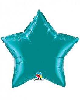 "20"" Teal Star Foil Balloon"