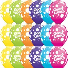 "11"" Good Luck Dots Latex Balloons 25pk"