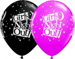 "11"" Girls Night Out Stars Latex Balloons 25pk"