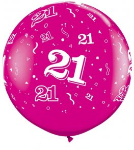 3ft Wild Berry 21 Around Giant Latex Balloons 2pk