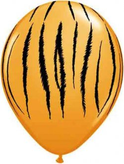 "11"" Tiger Stripes Latex Balloons 25pk"