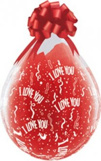 "18"" I Love You-A-Round Stuffing Latex Balloons 25pk"