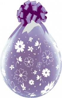 "18"" Daisies and Dots-A-Round Stuffing Latex Balloons 25pk"