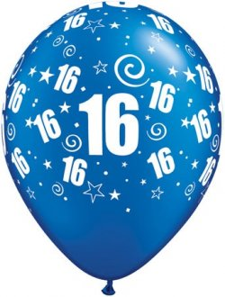 "11"" 16 Party Around Pearl Sapphire Latex Balloons 25pk"