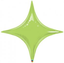"40"" Lime Green Starpoint Foil Balloon"