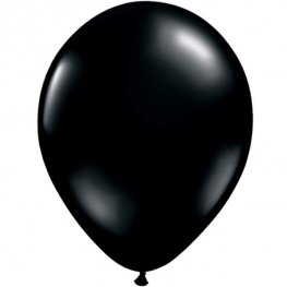 "11"" Onyx Black Latex Balloons 25pk"