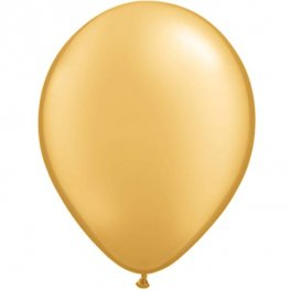 "11"" Metallic Gold Latex Balloons 25pk"