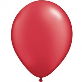 "11"" Pearl Ruby Red Latex Balloons 25pk"