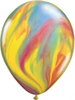 "11"" Traditional Super Agate Latex Balloons 25pk"