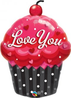 "14"" Love You Cupcake Air Fill Balloons"