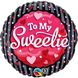 "18"" To My Sweetie Hearts And Dots Foil Balloons"