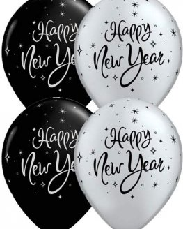 "11"" New Year Sparkle Latex Balloons 50pk"