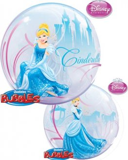 "22"" Cinderellas Royal Debut Single Bubble Balloons"