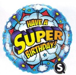 "18"" Have a Super Birthday Foil Balloons"