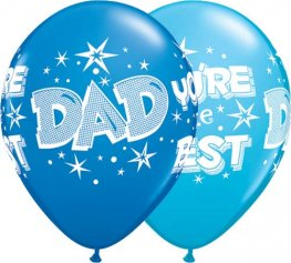 "11"" Dad Your The Best Latex Balloons 25pk"