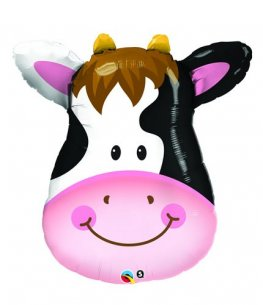 14 inch Contented Cow Air Fill Balloons