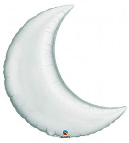 "9"" Silver Crescent Moon Foil Balloon"