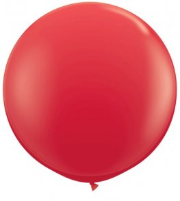3ft Red Latex Balloons 2pk
