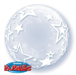 "24"" Stylish Stars Deco Bubble Balloons"