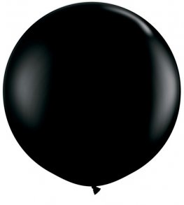 3ft Onyx Black Latex Balloons 2pk