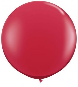 3ft Ruby Red Latex Balloons 2pk